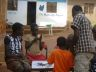 Nancy playing Ingenious - empowering Acholi girls